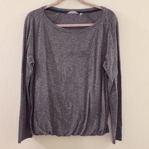 ATHLETA gray Suri Bubble workout t-shirt